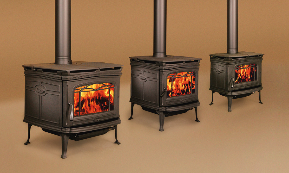 Alderlea woodstoves redefined the traditional cast iron stove by wrapping a  graceful cast iron profile around a high-performance steel firebox, ... - FPLC - Pacific Energy Freestanding Stoves - Wood Burning