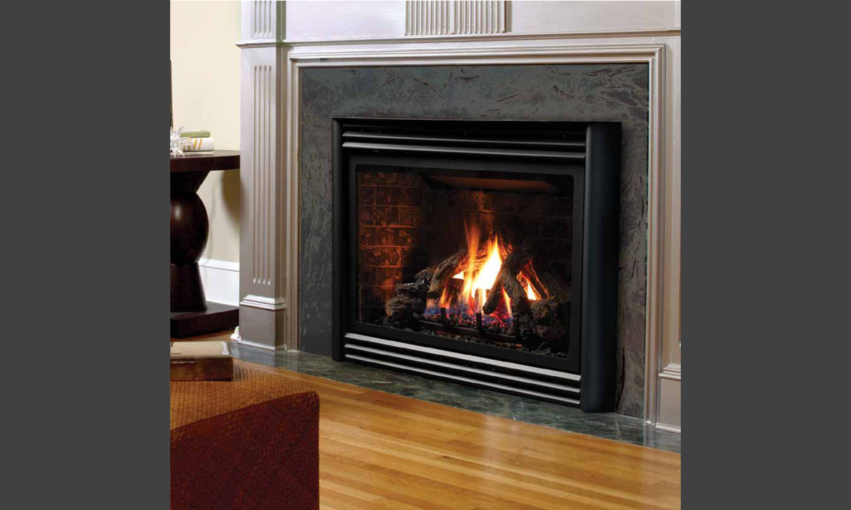 Clean Natural Gas Fireplace Glass